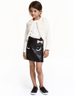 Imitation leather skirt   Kids   H&M CA