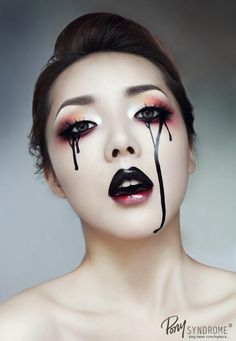 I imagine this with rainbow eye shadow.  Black Tears _ #Pony Syndrome#