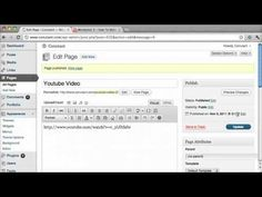 Need free website help? http://www.conutant.com    This tutorial shows you how to embed youtube videos into wordpress.