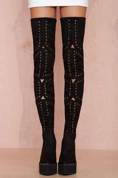 Jeffrey Campbell Notorious Suede Thigh High Boot