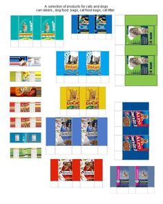 Pet Dollhouse Printables Food | selection of individual pet food bags for those of you who are not ...
