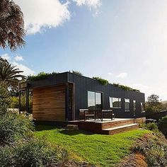 A Small Footprint Sustainable Home by @archiblox they embraced the context by making a simplified lifestyle as a place of refuge #housesbyarchiblox Photographer: @michaelwickham.photo #tinyhouse #architecture #home #micro #nature #tinyhomes #architect #house #modern #green #tinyhousemovement #cool #future #tiny #design #minimalist #greentinyhouse