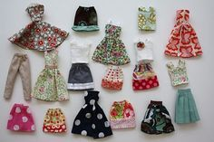 """BARBIE CLOTHING PATTERNS 