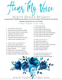 Our August Prayer Prompts are here. These prayer prompts are a wonderful way to cultivate a deeper prayer life with Jesus . Bible Study Plans, Bible Plan, Bible Study Tools, Bible Study Journal, Prayer Journals, Journal Art, Prayer Scriptures, Bible Prayers, Bible Verses