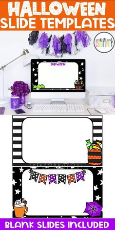 Do you need PowerPoint or Google Slides for your classroom or distance learning? Stay festive with these bright and beautiful Halloween Holiday Slide Templates for your classroom. Distance learning classroom. Distance learning teacher resources. Google slides templates for teachers distance learning. #distancelearning #teacher #teacherresources #halloweenclassroom #tpt #classroom #googleclassroom #holidayclassroom High School Classroom, Classroom Walls, Classroom Design, Kindergarten Classroom, Fall Classroom Decorations, Meet The Teacher Template, Halloween Templates, Teacher Resources, Seasonal Decor