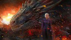 Khaleesi, The Artupida Daenerys Targaryen Art, Khaleesi, Deanerys Targaryen, Got Dragons, Mother Of Dragons, Pet Monsters, Game Of Trones, Game Of Thrones Art, Fantasy Art Women