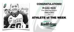 Congratulations to this week's ViewMySport ATHLETE of THE WEEK - BROOKS MAILE - Football (Defensive Line) - Pine View High School - Class of 2019 - (UT)... GREAT JOB BROOKS!  http://www.viewmysport.com/r-371-brooks-k-maile-football  ViewMySport.com - Your #1 College Sports Recruiting &  Scholarship Networking Resource!