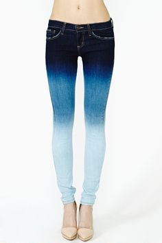 Easy Fade Skinny Jeans. lovely color