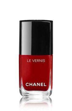 dark red nail polish wedding day mani | Chanel