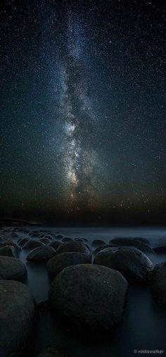 Milky Way - Bowling Ball Beach, California