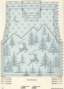 Snow and deer Christmas sweater pattern