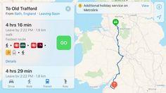 Apple Maps aggiunge le informazioni sui trasporti pubblici nel Regno Unito