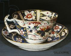 "Galley - ""Cup and saucer with cobalt pattern"" (1995)"