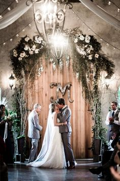 gorgeous rustic wedding with lots of greenery