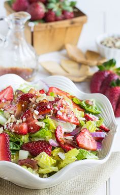 Strawberry, Bacon, and Feta Salad | Spicy Southern Kitchen