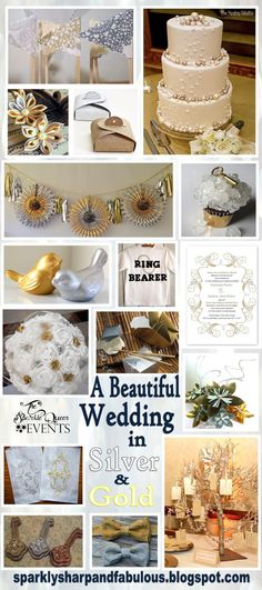Silver or gold? It's like asking people if they like chocolate or vanilla! But is it too much to ask for both? This silver and gold wedding idea board is for the couple that likes both!
