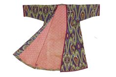 Robe, Central Asia. Detail. Uzbekistan, Fergana Valley, second half 19th century. Silk. Textile Museum, Washington, DC