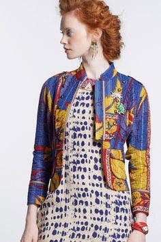 Odissi Vintage Kantha Jacket - Anthropologie.com
