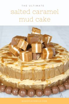 Satisfy your salted caramel cravings with this deliciously moist and rich Salted Caramel Mud Cake. Conventional and Thermomix methods included. Over the last few weeks, salted caramel goodness has well and truly overtaken Bake Play Caramel Recipes, Caramel Mud Cake, Chocolate Mud Cake, Caramel Cakes, Food Cakes, Cupcake Cakes, Cupcakes, Sin Gluten, Deserts