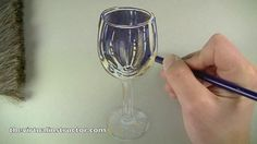 How to Draw Glass with Colored Pencils