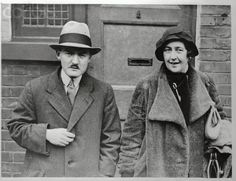 Agatha Christie and husband Professor Max Mallowan leave their home in London at the start of their journey to north Iraq on archaeological research Hercule Poirot, Agatha Christie's Poirot, Miss Marple, Crime, Guinness, Professor, Bbc Tv, Greatest Mysteries, Book People