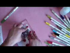 ▶ Tutorial, rotuladores acuarelables Distress Markers, trucos y consejos - YouTube