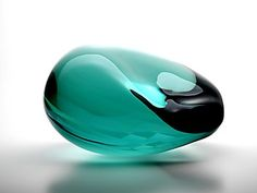Beautiful Glass Sculpture from Toshio Iezumi Cast Glass, Art Of Glass, Turquoise Glass, Glass Vessel, Stained Glass, Fused Glass, Glass Design, Colored Glass, At Least