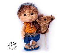 "Crochet pattern ""Boy with stick horse"""