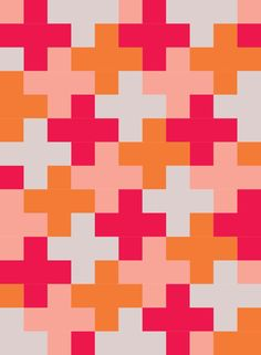 Plus quilt pattern Scrappy Quilts, Easy Quilts, Quilting Fabric, Quilting Tutorials, Quilting Designs, Charm Square Quilt, Plus Quilt, Cross Quilt, Fat Quarter Quilt
