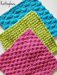 6 Knitted Eco Dishcloths + Tutorials