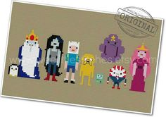 Adventure Time  The Original Pixel People  by weelittlestitches