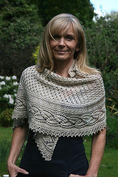 Ravelry: Miss Dashwood Shawl pattern by Paulina Popiolek #knitted #shawl #afs collection