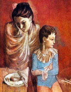 Mère et fils, par Pablo Picasso