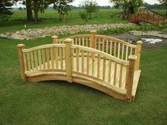 How to Build Wooden Bridge | Cedar Bridge Shop. com Garden Bridges 4-52ft. long
