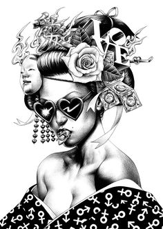 Ballpoint Pen Illustrations by Shohei Otomo #EasyNip