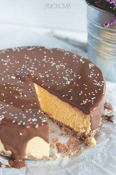 Tofurnik pumpkin - Do it Yourself & More! Vegan Foods, Vegan Recipes, Snack Recipes, Snacks, Healthy Deserts, Healthy Sweets, Tofu Cheesecake, Raw Cake, Vegan Pumpkin