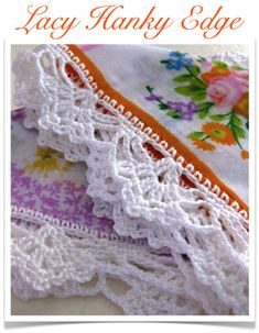 Lacy crocheted edging