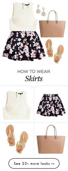 """Love Skirt"" by puspatoetoe on Polyvore featuring Ancient Greek Sandals, TIBI, Topshop and Pieces"