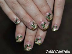 Nikki's Nail Files: December Nail Art Challenge: Holly Nails