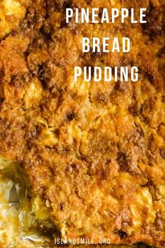 If you are looking for an easy dessert for the holiday season(Ramadan, Christmas or thanksgiving)then this pineapple dessert recipe is going to make your cooking easier. Pudding Desserts, Pudding Recipes, Pineapple Bread Pudding, Pineapple Casserole, Easy Bread Recipes, Cooking Recipes, Pineapple Dessert Recipes, Scones Ingredients, Ramadan