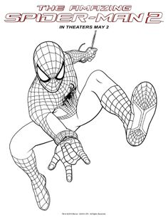The amazing spider man 2 coloring sheets movies dvds for The amazing spider man 2 coloring pages