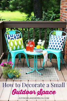 This would be perfect for our small deck! Love the bright colors! | JustAGirlAndHerBlog.com