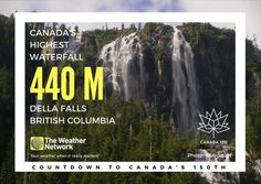 Located in Strathcona Provincial Park on Vancouver Island, the only way to access the trailhead to Della Falls is by boat across Great Central Lake. Great 🇨🇦 fact 111/150 #Canada150