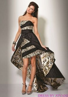 c33882c444 JOVANI - Authentic Designer Dress - Beautiful Gown - (don t love the animal  print but love the train style)