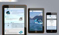 """Rund um die Produktpräsentation für """"Chilli Island"""" wurde im Rahmen des Webauftrittes zunächst ein One-Page-Layout angefertigt, das den Nutzer von einem visuellen Eindruck, über eine auf Scrollbasis animierte Explosionsgrafik der Inselkonstruktion bis über die Preise zum Kontakt surfen lässt. Die Webseite hat zwar eine eigene Navigationsstruktur, die Inhalte sind aber im Rahmen einer einzigen Seite angelegt. Island, Web Design, Layout, Phone, Website, Surfing, Frame, Round Round, Projects"""