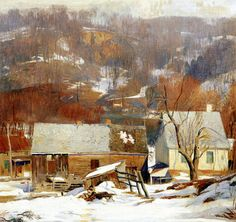 Late Snow, Byram by Daniel Garber | Art Posters & Prints