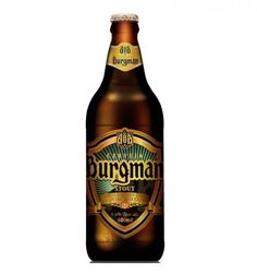 Cerveja Burgman Stout, estilo Sweet Stout, produzida por Burgman, Brasil. 6% ABV de álcool.