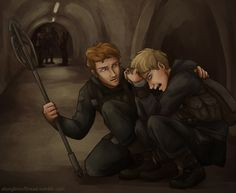 Hijacked Peeta and Finnick I'm not ready for Mockingjay! Hunger Games Memes, Hunger Games Fandom, Hunger Games Catching Fire, Hunger Games Trilogy, Katniss Everdeen, Katniss And Peeta, Suzanne Collins, Hunter Games, I Volunteer As Tribute