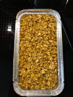 These Vegetable Bakes with Crunchy Nut Topping are amazing. These will definitely be staying on the menu.   https://www.gourmetvegancatering.co.uk/vegan-ready-meals/