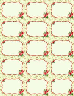 Free label printables for your Favors in a vintage rose theme.